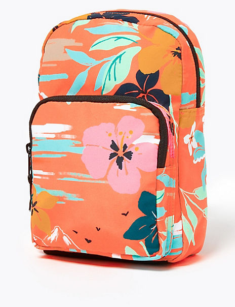 Kids' Tropical Print Mini Backpack