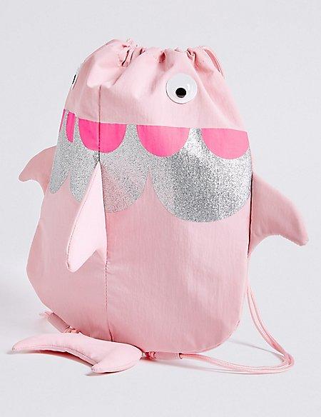 Kids' Novelty Fish Drawstring Backpack