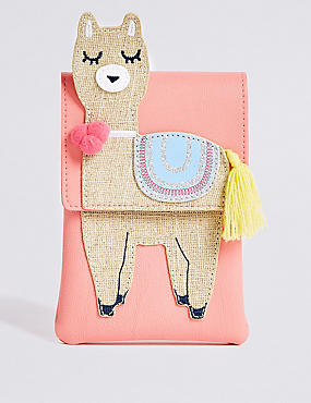 Kids' Novelty Llama Cross Body Bag