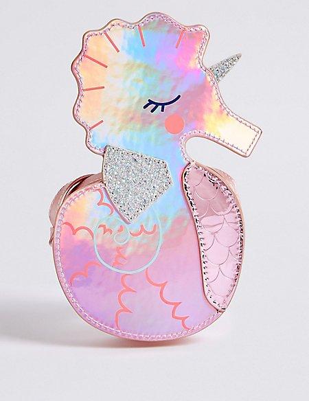Kids' Novelty Seahorse Cross Body Bag