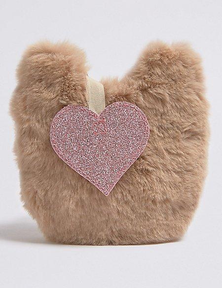 Kids' Faux Fur Mini Cross Body Bag