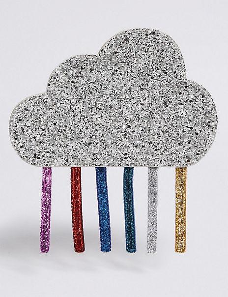 Kids' Rainbow Cloud Sequin Cross Body Bag