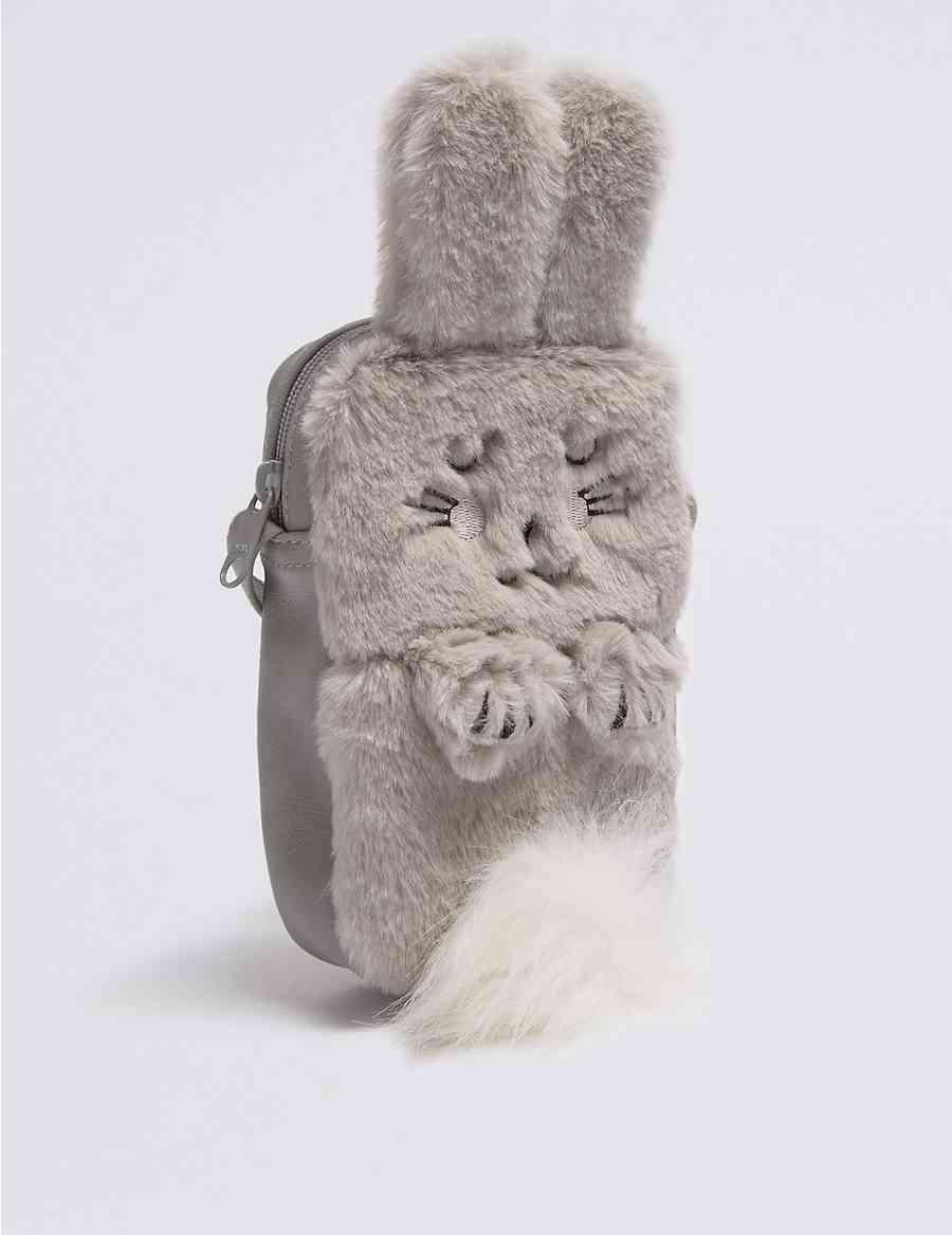 23e68c1bce Kids  Faux Fur Bunny Cross Body Bag