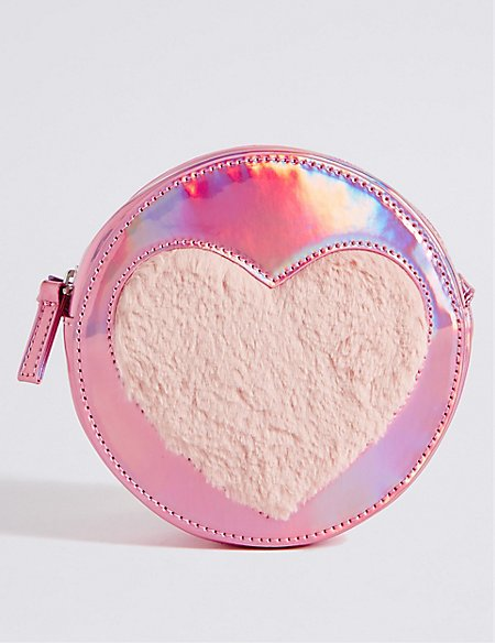 56529897b Product images. Skip Carousel. Kids' Faux Leather Heart Cross Body Bag