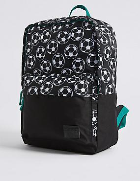 Kids' Football Print Backpack