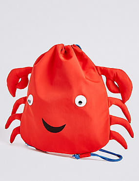 Kids' Crab Drawstring Backpack
