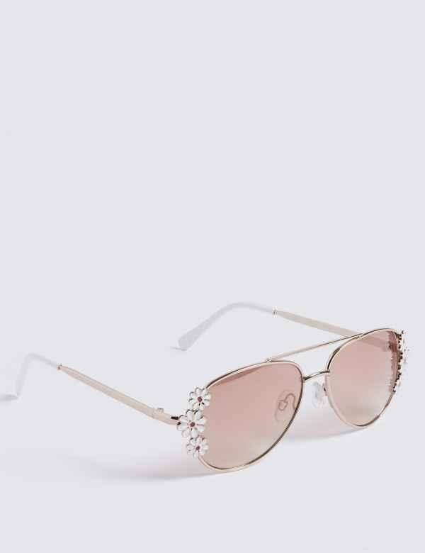f773c0fb23 Floral Aviator Sunglasses