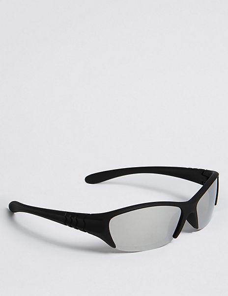 Kids' Sporty Rubberized Sunglasses (7-10 Years)