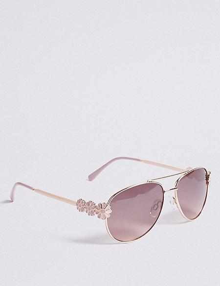 Floral Aviator Sunglasses