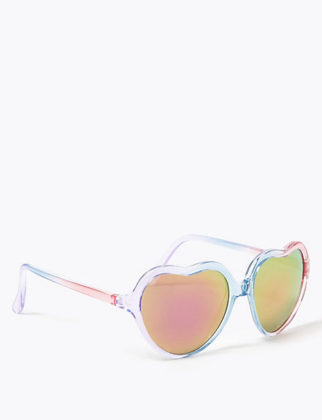 Kids' Ombre Heart Sunglasses