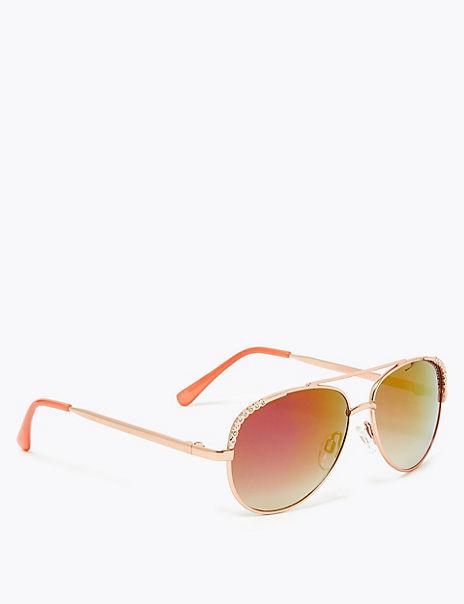 Kids' Bling Aviator Sunglasses