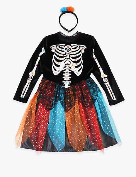 Kids' Day Of The Dead Dress Up Set