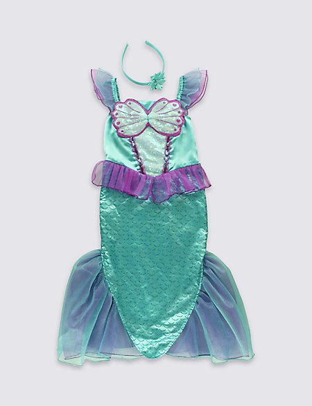Kids\' Mermaid Dress Up Costume | M&S