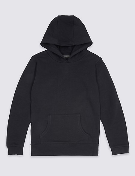 Cotton Rich Unisex Hooded Sweatshirt