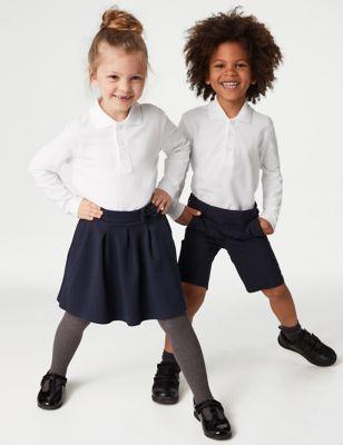 d70696664ad Unisex Long Sleeve Polo Shirt | M&S