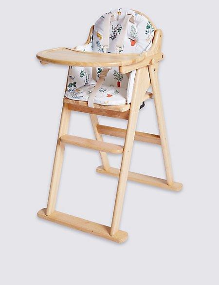 Herb Garden High Chair Cushion
