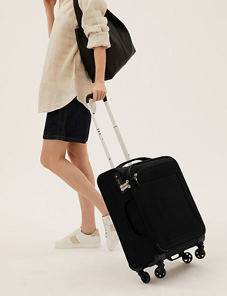 Cabin 4 Wheel Ultralight Soft Suitcase with Security Zip