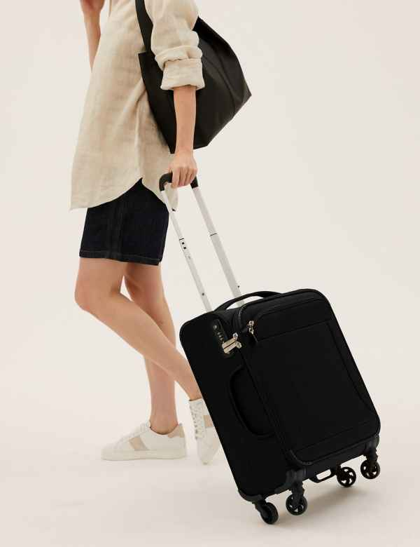 c2f74ace3 Cabin 4 Wheel Ultralight Soft Suitcase with Security Zip