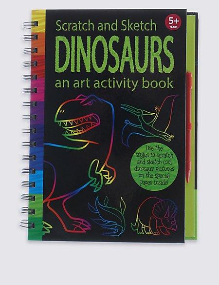 Scratch & Sketch Dinosaurs Book