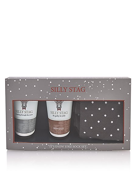 Silly Stag Sock Set