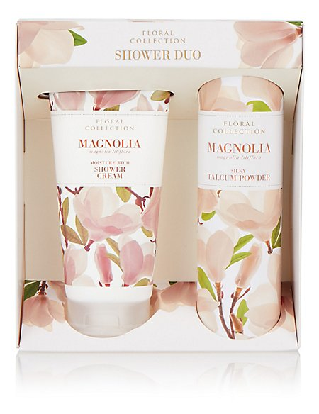 Floral Magnolia Shower Duo