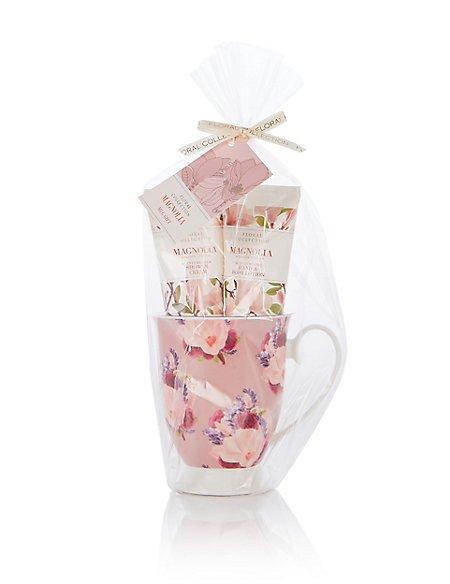 magnolia mug gift set floral collection m s