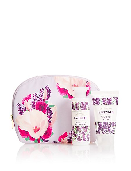 Lavender Cosmetic Purse Gift Set