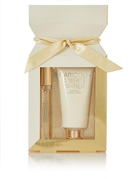 Christmas Marigold & White Amber Gift Set