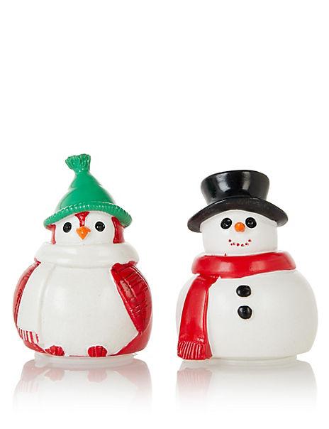 Festive Snowman Lip Balm Duo