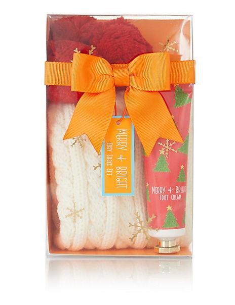Christmas Sock & Foot Cream Gift Set