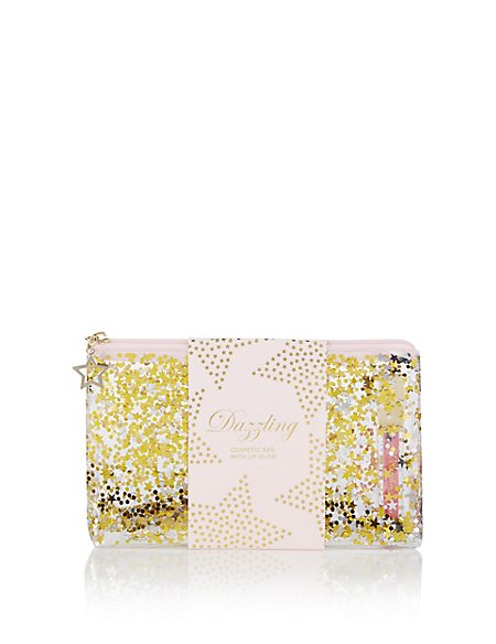 Cosmetic Bag with Lip Gloss