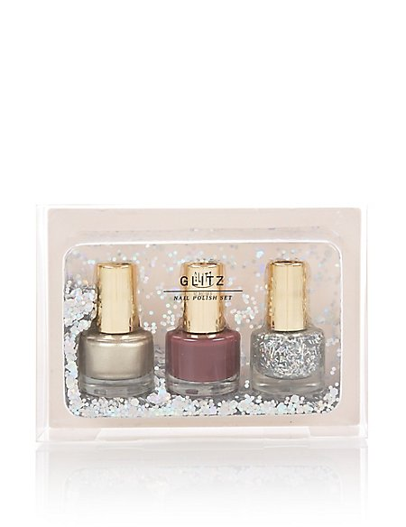 Glitz Nail Polish Trio Set