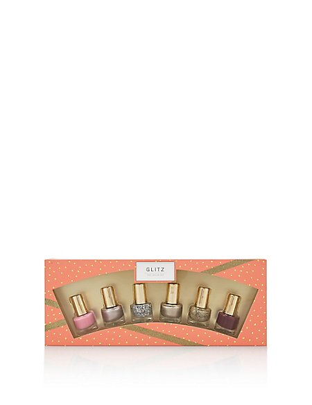 Glitz 6 Nail Polishes Set