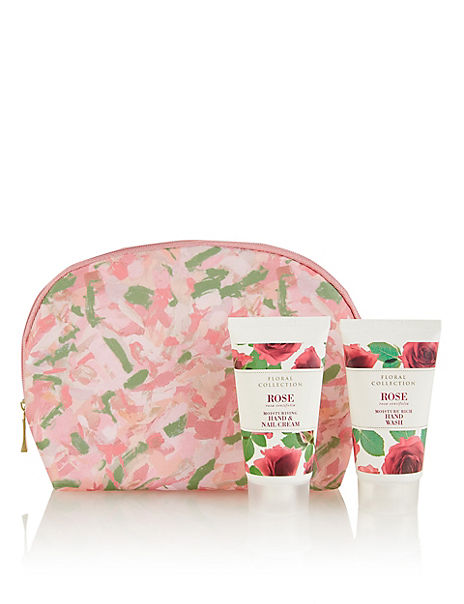 Rose Cosmetic Purse Gift Set