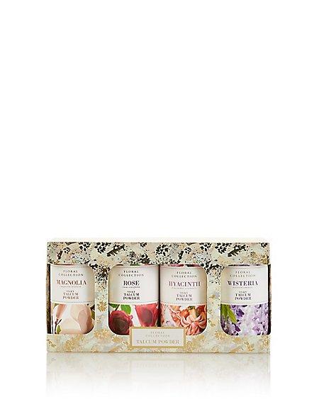 Floral Mixed Talcum Powder Gift Set
