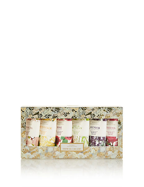 Floral Mixed Shower Creams Gift Set