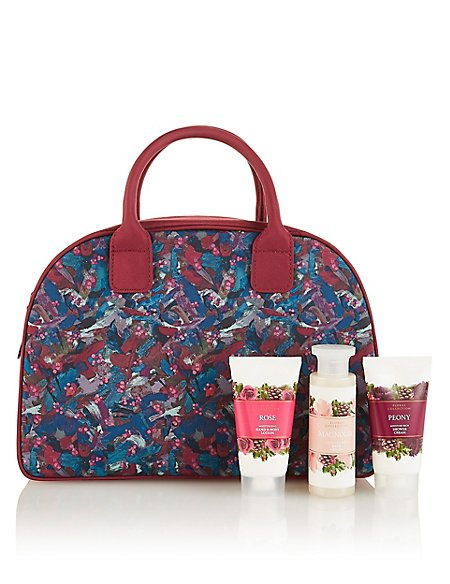 Peony Weekender Bag Gift Set