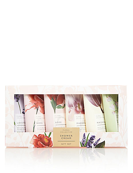 Floral Shower Cream Set