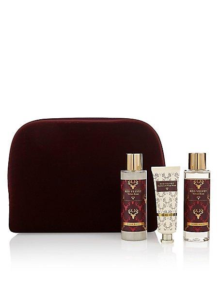 Red Luxe Velvet Bag