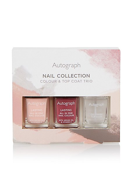 Nail Collection Colour & Top Coat Trio