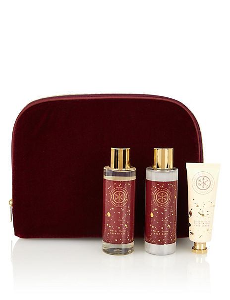 Red Luxe Collection Velvet Bag Gift Set
