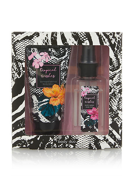 Tropical Wishes Body Mist & Lotion Set