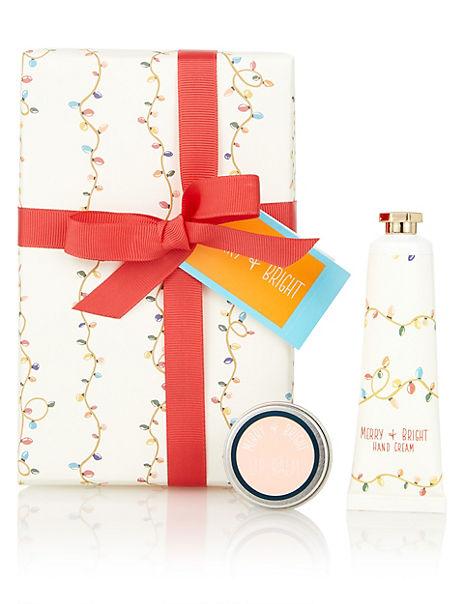 Festive Hand Cream & Lip Balm Gift Set
