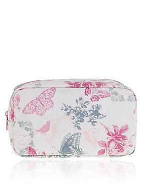 Vintage Floral Cosmetic Purse