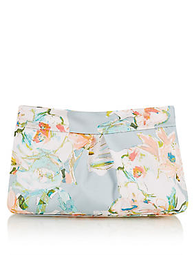 Water Colour Floral Cosmetic Purse