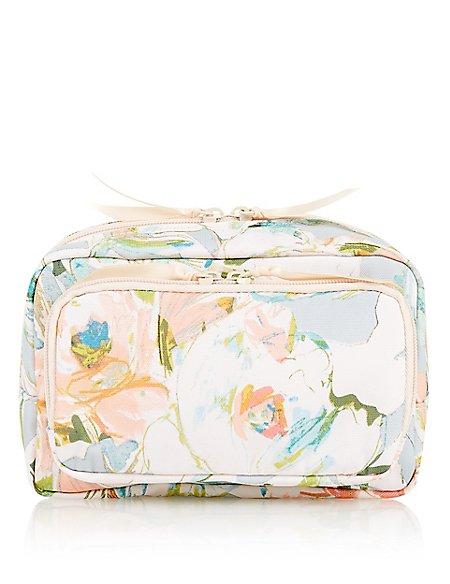 Water Colour Floral Makeup Bag