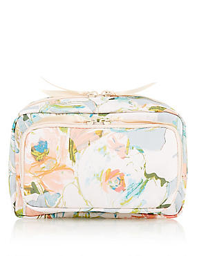 Water Colour Floral Makeup Bag