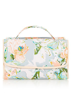 Watercolour Floral Hanging Washbag