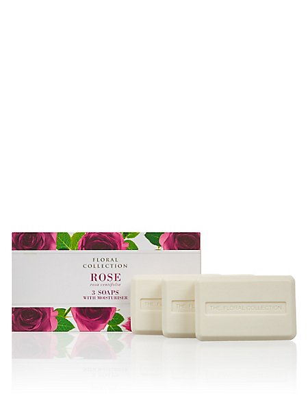 Rose Trio of Soaps
