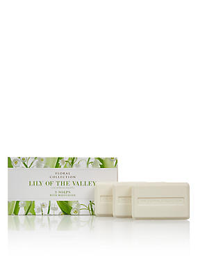 Lily of the Valley Trio of Soaps